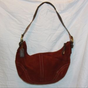COACH 4286 Red Burgundy Maroon Soft Suede Leather